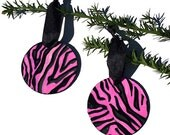 SALE - Pink Zebra Ornamen...