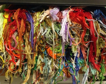 DMC Floss Thread - HUGE LOT - Organized in Binder