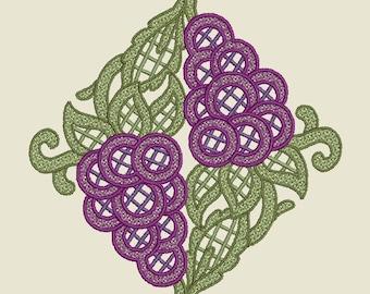 Grapes Lace Monogram Project