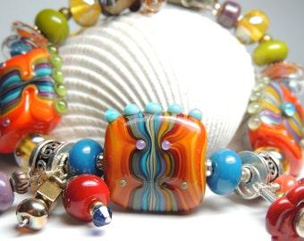 MOROCCO Handmade Lampwork Bead Bracelet
