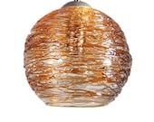 Gold Spun Hand Blown Glass Pendant Light Ceiling Light Hanging Light Chandelier Option Pendant Lights