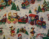 Night Before Christmas Fabric - Play Scenic  - Trains - by the yard - Springs Creative