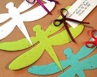 25 Dragonfly Seed Paper Plantable Wedding Favors
