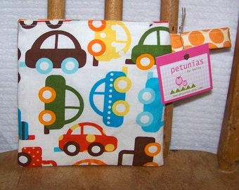 Reusable Little Snack Bag - pouch adults kids cars eco friendly by PETUNIAS
