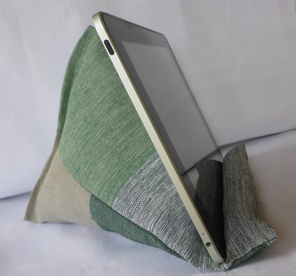Ipad Pillow Lap Stand Kindle Pillow Stand Green And Grey