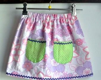 summer pocket skirt - purple size 4