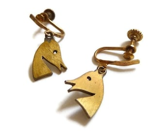 Peggy Miller Modernist Horse Head Earrings