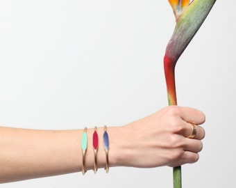 New brights Color Collection! Hand Painted ID Cuff Bangle Bracelet