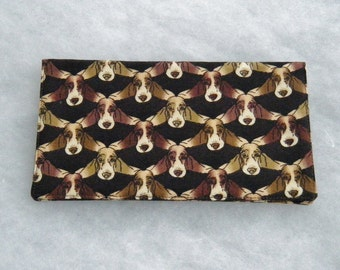 Checkbook Cover - Basset Hound too