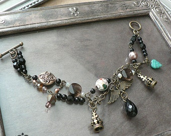 Jewels and Crowns Gothic Charm Bracelet
