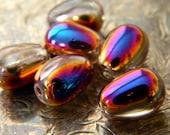 Spellbound (6) -Czech Glass Drops 11x8mm