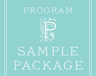 Wedding Program SAMPLE PACKAGE - Wedding Programs and Order of Services Samples