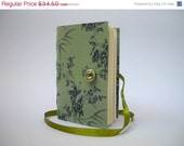 Green journal notebook handmade journals lined journal blue green journal flowers journal notebook diary writing journal for women or girls