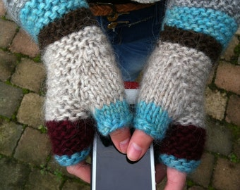 Knitting Pattern Fingerless Mittens