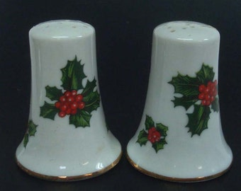 Lefton Holly Salt & Pepper Shakers Hand Painted 1960's