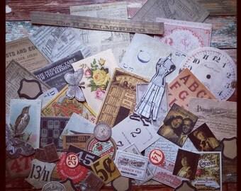 Ephemera Pack, Thrift Shop, Vintage Style Ephemera Pack