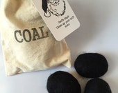 Christmas Coal Felted Soap in Bag Gift Stocking Stuffer Funny Soap