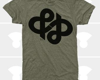Ampersand Typography Men Shirt, &, Ampersand Infinity Men Shirt, Typography Gifts, Graphic Designer, Hipster Men Clothes, Gift for Men