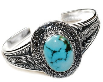Sale: Turquoise and Sterling Silver Cuff Bracelet
