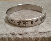 Kitty Cat Lover aluminum hand stamped cuff bracelet perfect gift for animal lovers