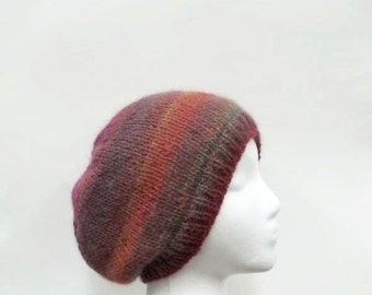 Beanie hat, knitted, colorful    4954