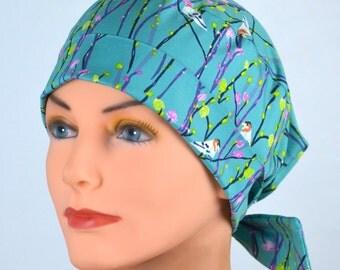 Scrub Hats // Scrub Caps // Scrub Hats for Women // The Hat Cottage // The Mini // Fabric Ties // Birdie