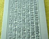 Rollable HIEROGLYPHICS  Clay Texture Rubber Stamp   RTT-103