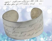 Actual Handwriting Domed Sterling Cuff by donnaodesigns