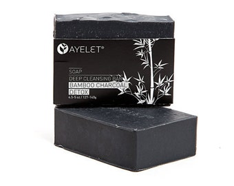 Detoxifying Activated Bamboo Charcoal Soap Organic, Vegan Friendly