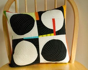 Circles Improv Pillow Cover