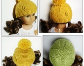 Goldie Hat - PDF Knitting Pattern For 18 Inch American Girl Dolls - Doll Clothes Pattern - Instant Download