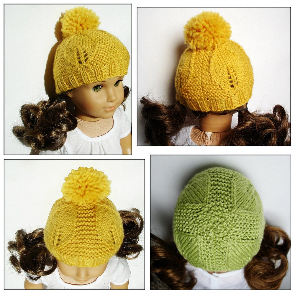 Goldie Hat PDF Knitting Pattern For 18 Inch American Girl