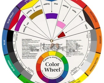Color Wheel 9-1/4in (23.5 cm)  Candle Color Mixing Guide, Artist, Paint
