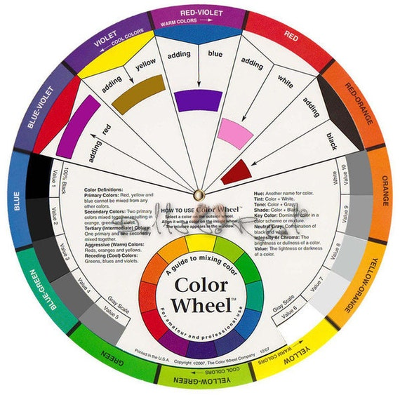 Color Wheel 9 1 4in 235 Cm Candle Mixing Guide Artist Paint From ThePlace4Candles On Etsy Studio