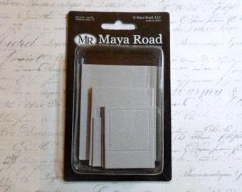 Maya Road: Photo Frames Chipboard - 3 Designs In a 12 Piece Set