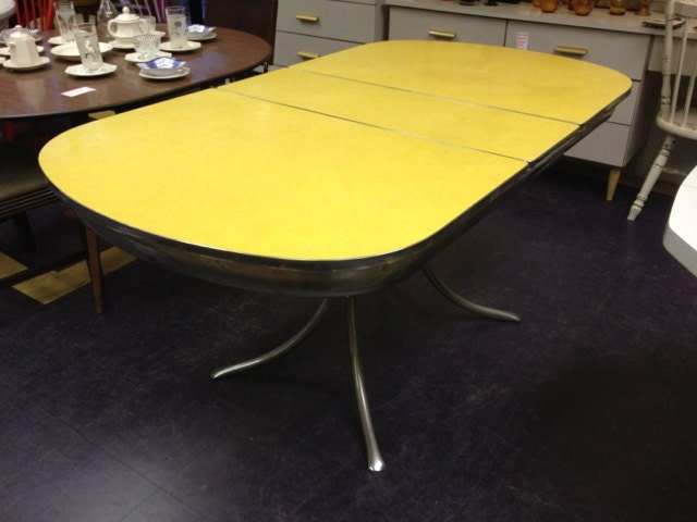 Vintage Yellow Formica amp Chrome Dining Table Haute Juice : ilfullxfull735921449b1nh from hautejuice.wordpress.com size 640 x 480 jpeg 48kB