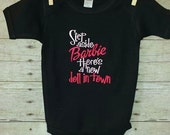 Step Aside Barbie there is a new doll in town bodysuit T-shirt Embroidered