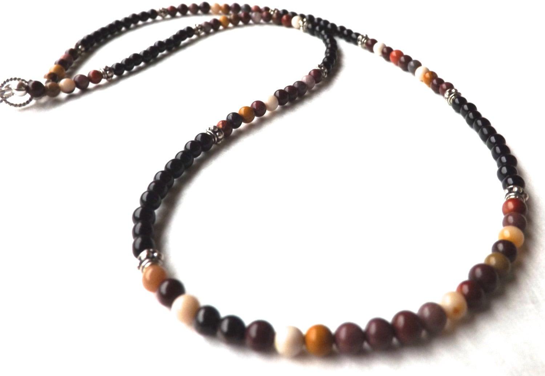 mens necklace mens onyx necklace mens mookaite necklace mens