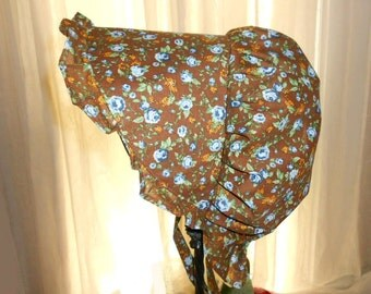 Sunbonnet Baby Brown 3 to 15 months Woodland Rose 11USD