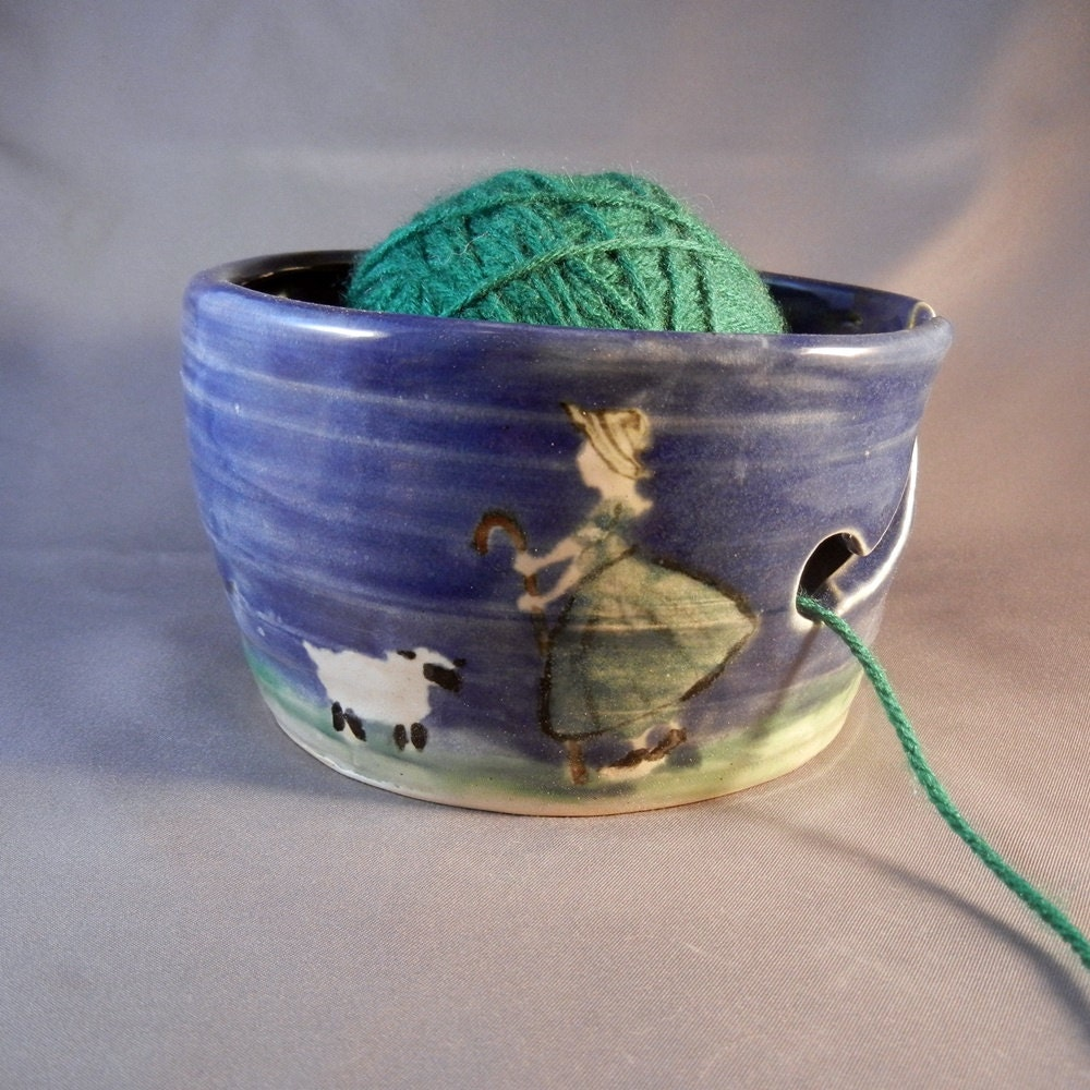 Knitting Bowl Funny : Little bo peep ceramic yarn bowl small by gryphonwyck on etsy