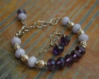 Purple Passion Glass Beads Bracelet Nickle Free