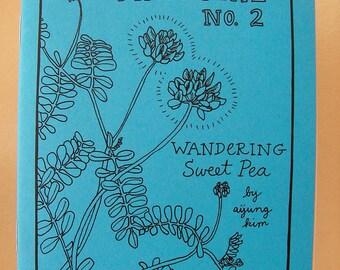 "Zine ""Minutiae No. 2: Wandering Sweet Pea"" // perzine / Richmond VA / travel zine / illustration zine / art zine / garden / hummingbird"