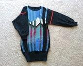 Vintage 80s sweater dress