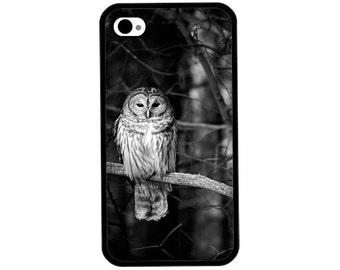 Phone Case - Owl Photo - Hard Case for iPhone 4, 4s, 5, 5s, 5c, SE, 6, 6 Plus, 7, 7 Plus - iPod Touch 4, 5/6 - Galaxy