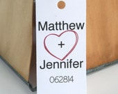 Personalized Wedding favor tag bride groom wedding date engagement party favor