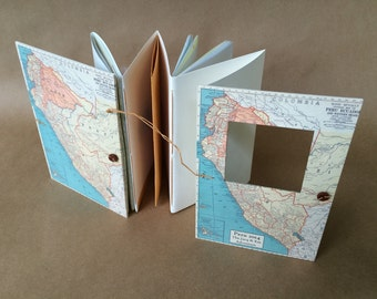 Travel Journal with Peru Map - Pockets and Envelopes - Custom Made & Personalized for You
