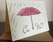 Ca Va - 50-Pack Gocco Screen-Printed Greeting Cards