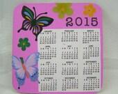 2015 mini magnetic calendar, butterflies