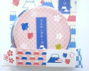 Japanese Tape Mount Fuji Cherry Blossoms And More Traditional Japanese Sticker Tape