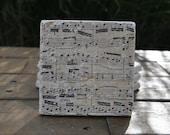 Music Natural Stone Coasters. Set of 4. Wedding, Hostess, Home Decor